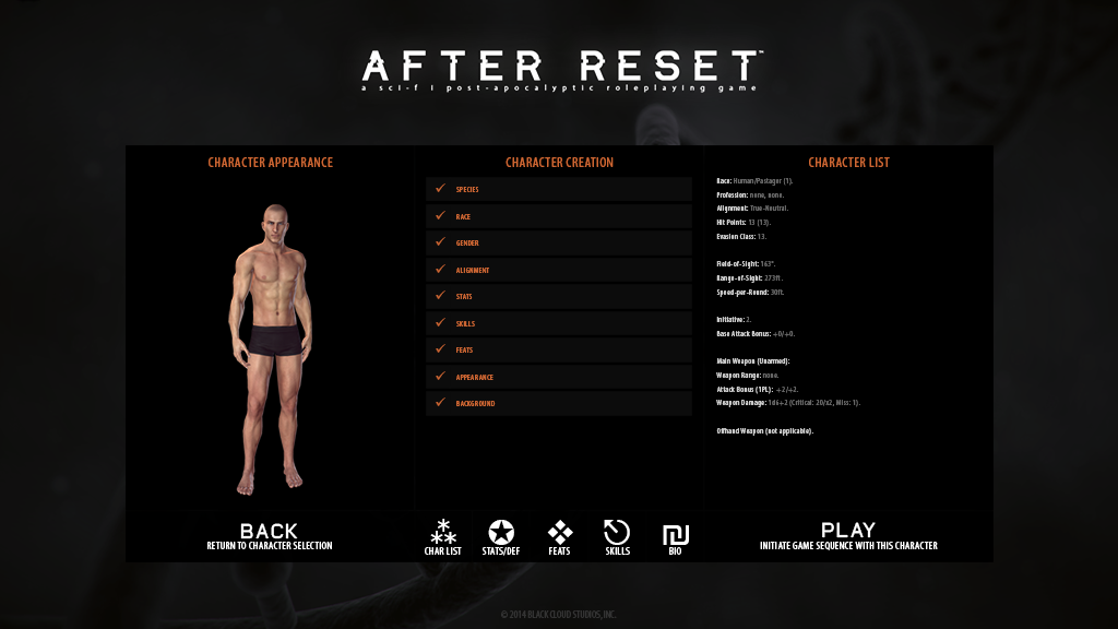 after reset customization