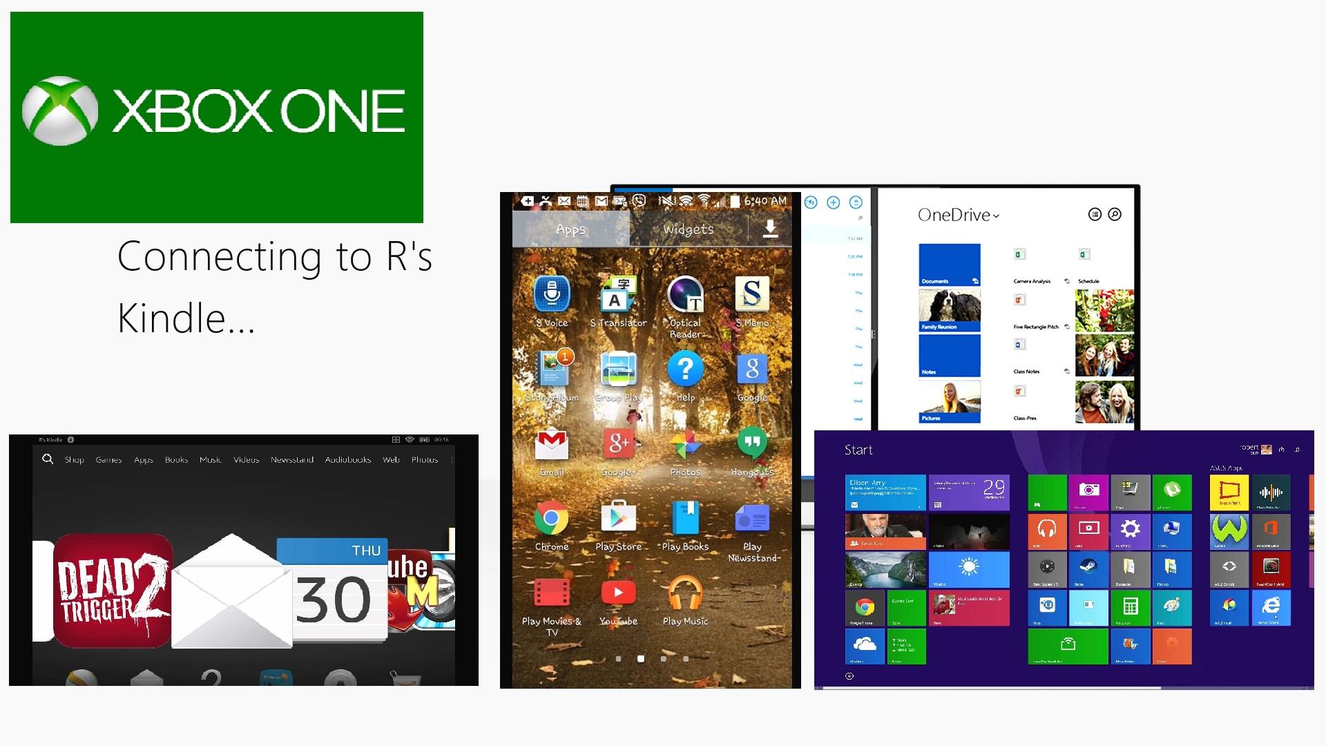 Xbox One Wireless Screen Mirror with Kindle HDX Windows 8