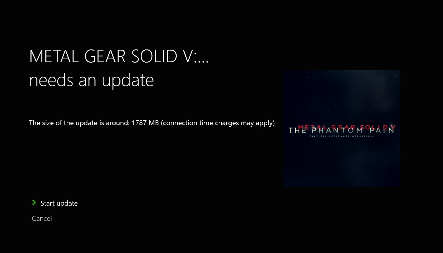 metal gear solid V update