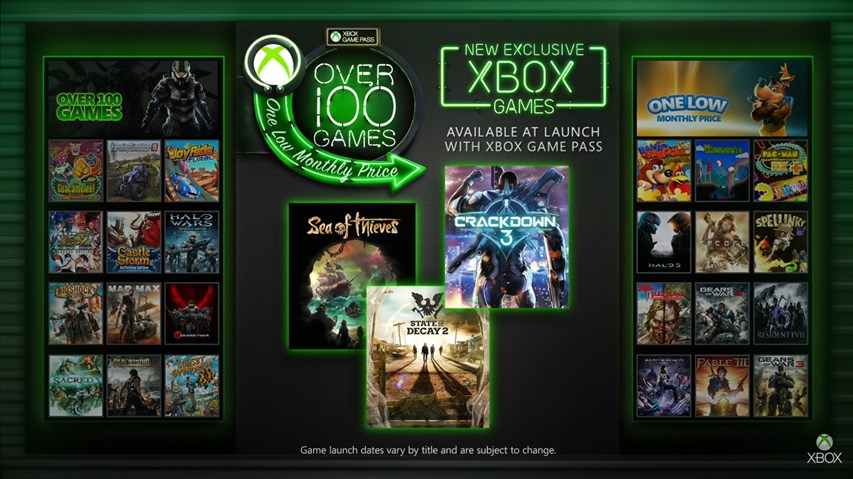 xbox game pass play new exclusive xbox one games at launch. Black Bedroom Furniture Sets. Home Design Ideas