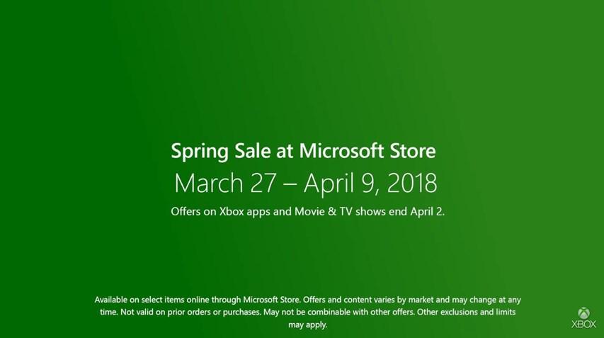 microsoft store xbox spring sale 2018 cramgaming com